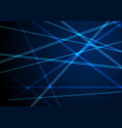 Blue neon laser beams lines abstract background vector
