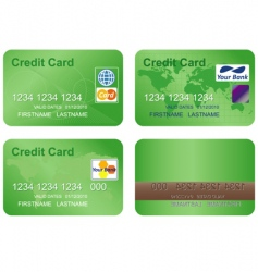 Design of a credit card vector