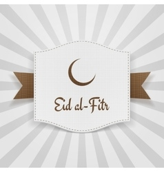 Eid al-fitr muslim greeting badge vector