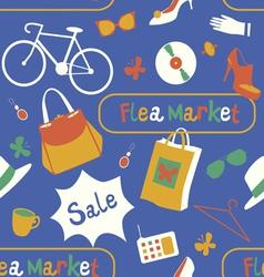 Flea market seamless pattern vector