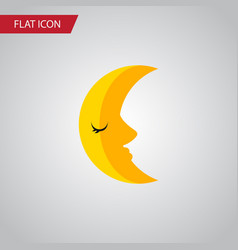 Isolated crescent flat icon moon element vector