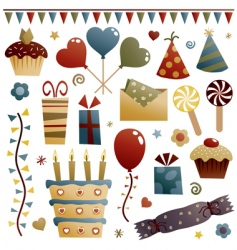 party decorations vector image