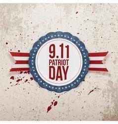 Patriot Day circle Badge with Ribbon vector image