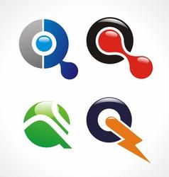 q logo vector image vector image