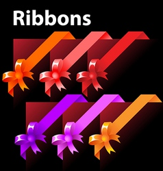 ribbon with knot vector image vector image