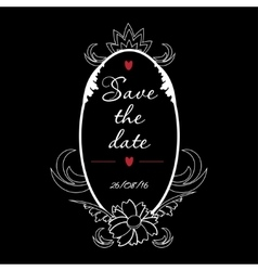 Save the date vintage frame perfect for vector