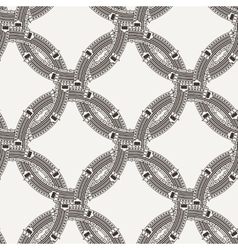 Seamless pattern of ornate interlocking vector