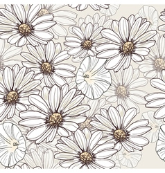 Seamless summer flower pattern vector