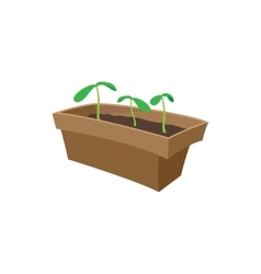 Seedling icon cartoon style vector image vector image