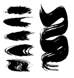Set brush strokes vector