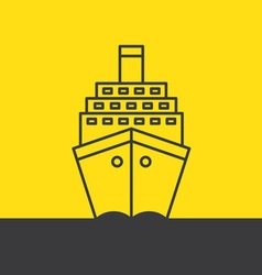 Ship sea cruise liner vector image vector image