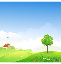 Spring day vector image vector image