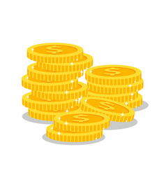stacks of golden coins vector image