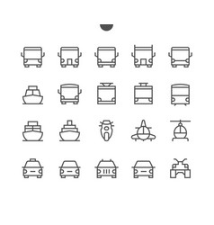 Transport front view outlined pixel perfect well vector