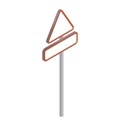 Triangular road sign icon isometric 3d style vector