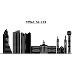 usa texas dallas architecture city skyline vector image vector image