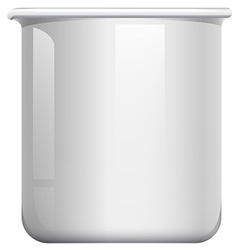 White beaker on white vector