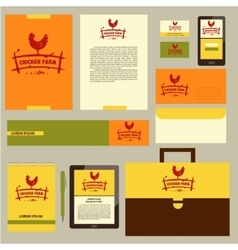 Logo hand drawn hen corporate identity vector