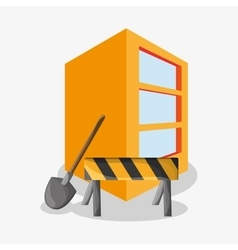 Barrier of under construction design vector