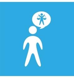 Silhouette man scale justice icon graphic vector