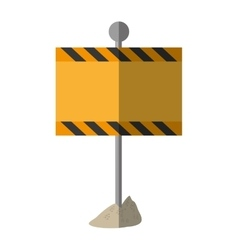 Cartoon sign road rectangle caution empty vector