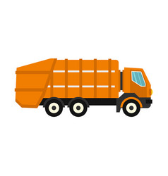 Garbage truck icon flat style vector