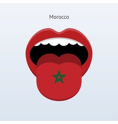 Morocco language abstract human tongue vector