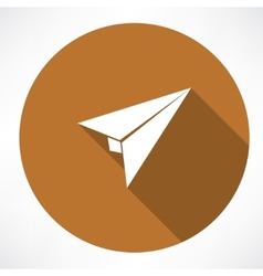 Airplane paper sign vector