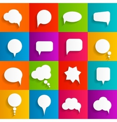 Flat speech bubbles with long shadows vector