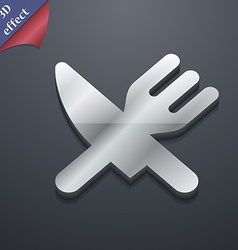 Eat cutlery icon symbol 3d style trendy modern vector