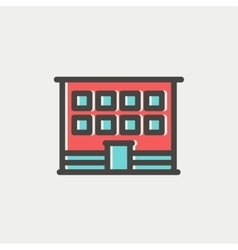 Modern office building thin line icon vector