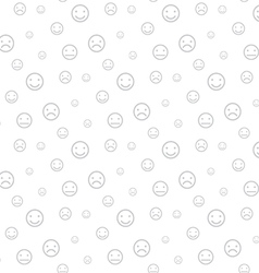 Smiley faces seamless light background vector