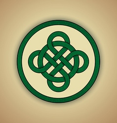 Celtic knot symbol of luck vector