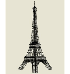 Eiffel tower sketch vector