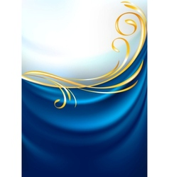blue fabric curtain background vector image