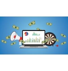 Online business with graph money vector