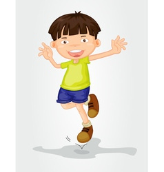 Young boy vector image
