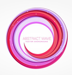 abstract wave swirl colorful background vector image
