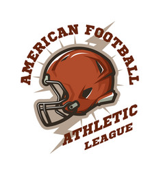 american football helmet emblem vector image vector image