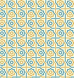 Arabic seamless pattern vector image vector image