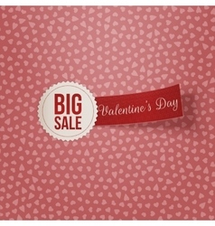 Big Sale Text on white Label with red Ribbon vector image vector image