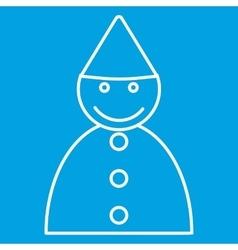 Birthday boy thin line icon vector