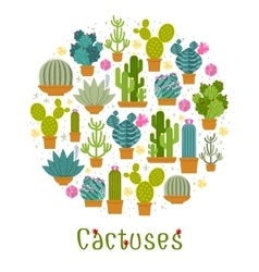 Cactus label vector image vector image