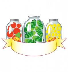 canned fruits and vegetables i vector image