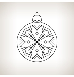 Christmas Ball on a Light Background vector image vector image