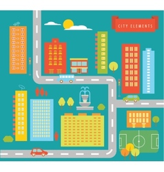 City elements vector