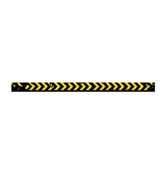 color silhouette with police line tape vector image