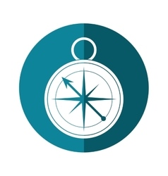 Compass location element camping blue circle vector