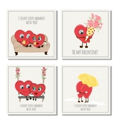 Congratulation card with hearts for Valentines Day vector image