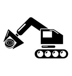 Crane icon simple style vector